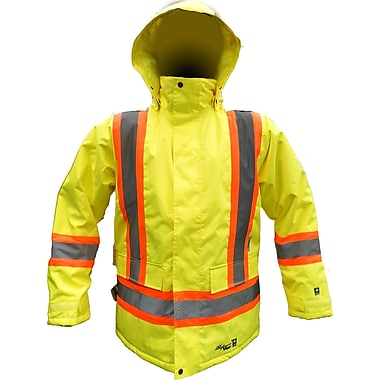 Viking Professional Freezer 300D Waterproof Insulated Safety Parka, Fluorescent Green, 4X-Large