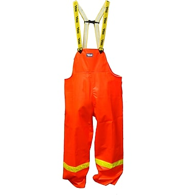 Viking FR PVC Waterproof Bib Pant, Fluorescent Orange, Medium