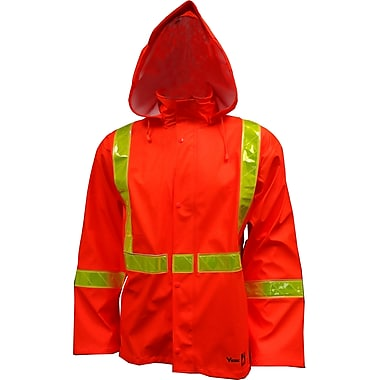Viking FR PU Waterproof Rain Jacket, Fluorescent Orange, 4X-Large