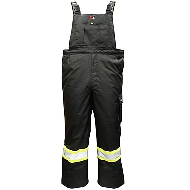 Viking Professional Journeyman 300D FR Waterproof Insulated Safety Freezer Overalls, Black, Medium
