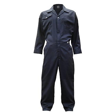 Open Road Poly/Cotton Coveralls, Navy, 2X-Large