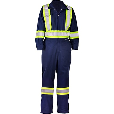 Viking CSA Striped Safety Coveralls, Navy, Small