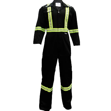 Viking CSA Striped Safety Coveralls, Black, Small