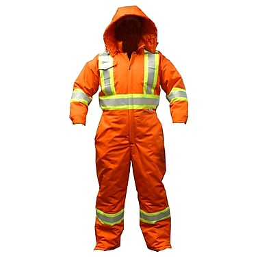 Viking CSA Striped Insulated Safety Coveralls, Orange, X-Large