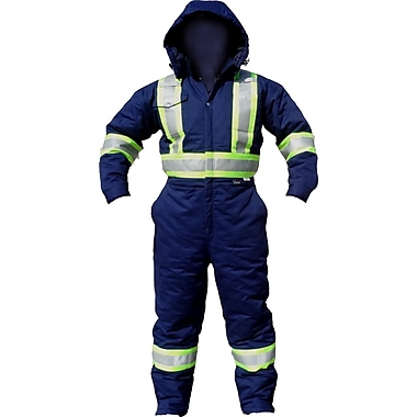 Viking CSA Striped Insulated Safety Coveralls, Navy, 3X-Large
