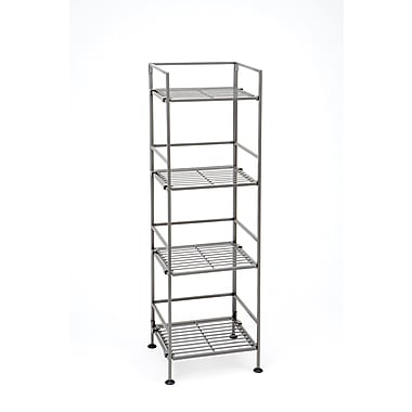 Seville Classics 4-Tier Iron Folding Shelf