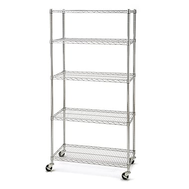 Seville Classics 5-Shelf Shelving System with Wheels