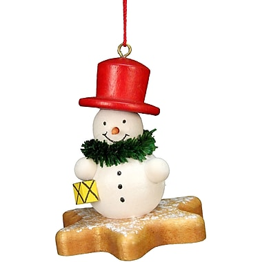 Alexander Taron Christian Ulbricht Snowman on Star Ornament