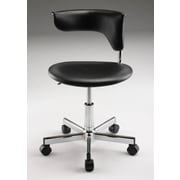 Creative Images International Leatherette Computer Chair; Black