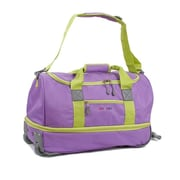 J World Stadium 21'' 2 Wheeled Carry-On Duffel; Orchid