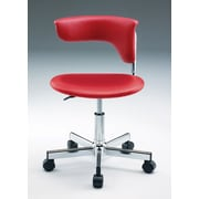 Creative Images International Leatherette Computer Chair; Red