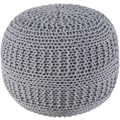 Rizzy Home ColorCable Knit Ottoman; Gray