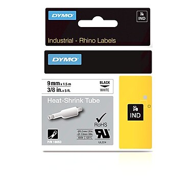 Dymo® Rhino™ Industrial Heat Shrink Cable Labels, 3/8