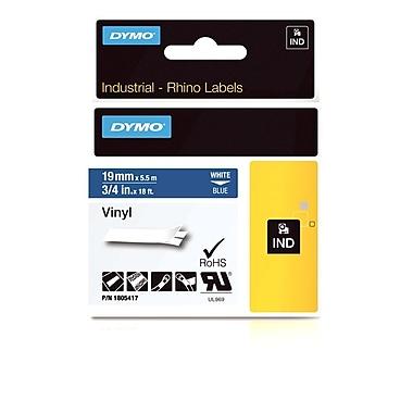 Dymo® Rhino™ Industrial Vinyl Adhesive Labels, 3/4