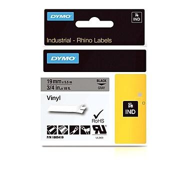 Dymo® - Étiquettes adhésives Rhino™ Industrial en vinyle, 3/4 po x 18 pi, texte blanc sur bleu