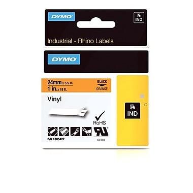 Dymo® - Étiquettes adhésives Rhino™ Industrial en vinyle, 1 po x 18 pi, texte noir sur orange
