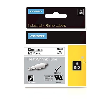 Dymo® Rhino™ Industrial Heat Shrink Cable Labels, 1/2