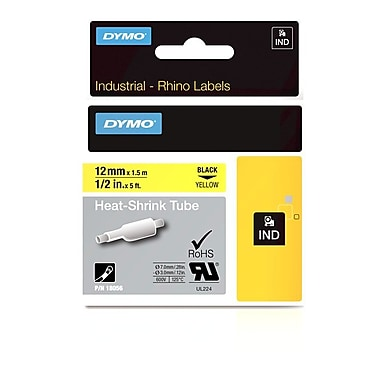 Dymo® – Tube de thermo-rétraction Rhino™ industriel, 1/2 po x 5 pi, jaune