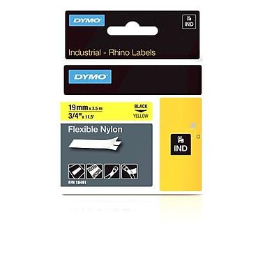 Dymo® – Étiquettes Rhino™ industrielles, nylon souple de 3/4 po, jaune