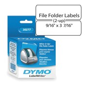 "Dymo® LW Label Writer Self-Adhesive File Folder Labels, 9/16"" x 3-7/16"", White, 260 Labels"
