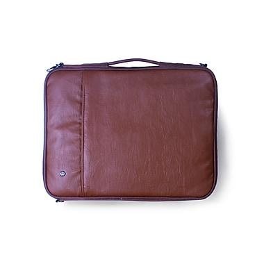 PKG – Étui/pochette « Stuff » de transport universel pour ordinateur portatif et tablette, similicuir de vache, 16 po, chocolat