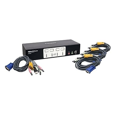 IOGEAR® 4-Port KVM Switch With USB 2.0 Hub and Audio