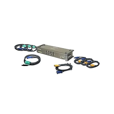 IOGEAR® 4-Port DualView USB VGA KVM Switch With Audio and Cables
