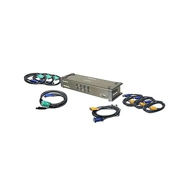 IOGEAR – Commutateur KVM 4 ports DualView USB VGA avec audio et câbles