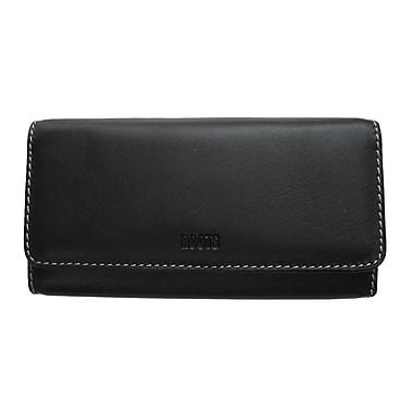 Roots – Portefeuille de type pochette avec porte-chéquier, collection Continental, noir