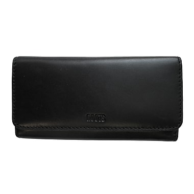 Roots Clutch Wallet with Check Book - Cosmopolitan Collection, Black