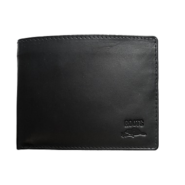 Roots Slim Fold Wallet with Removable ID, Black