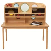 Whitney Plus Porthole 42.5'' Student Desk with Book Box, Natural (CH0200)