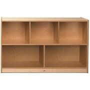 Whitney Plus Birch Laminate Children Storage Cabinet, Natural Maple