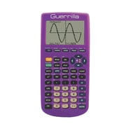 Guerrilla® Silicone Case For Texas Instruments TI 83 Plus Graphing Calculator, Purple