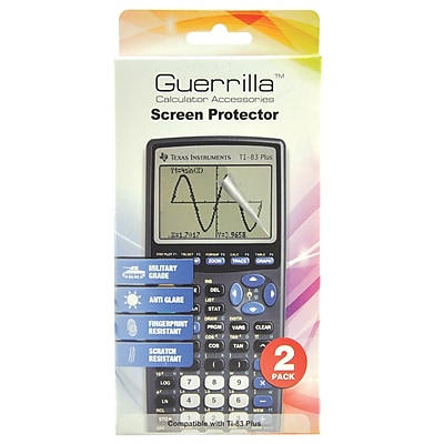 Guerrilla Military Grade Screen Protector For TI 83 Plus Graphing Calculator 2 Pack