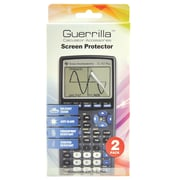 Guerrilla® Military Grade Screen Protector For TI 83 Plus Graphing Calculator, 2/Pack