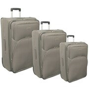 McBrine Luggage 3 Piece Luggage Set; Khaki
