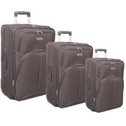 McBrine Luggage 3 Piece Luggage Set; Plum