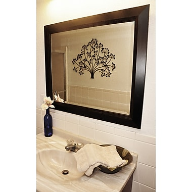 Rayne Mirrors Jovie Jane Brown Lining Wall Mirror; 35.75'' H x 35.75'' W x 0.75'' D