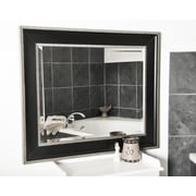 Rayne Mirrors Black With Silver Cage Wall Mirror; 40.25'' H x 36.25'' W x 2'' D