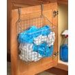 Spectrum Diversified Over the Cabinet Grid Trash Bag Holder; Satin Nickel
