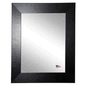 Rayne Mirrors Ava Wide Leather Wall Mirror; 26'' H x 22'' W x 0.75'' D