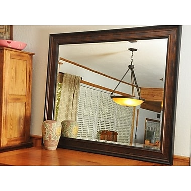 Rayne Mirrors Jovie Jane Bronze and Black Wall Mirror; 28.75'' H x 24.75'' W x 1'' D