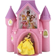 Ashton Sutton Princess Castle Quartz Analog Bank Alarm Clock