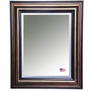 Rayne Mirrors Antique Canyon Bronze and Black Wall Mirror; 35.5'' H x 35.5'' W x 1'' D