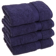 Simple Luxury Superior Egyptian Cotton Hand Towel; Navy Blue