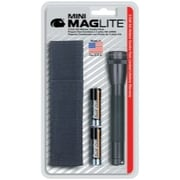 MAG-Lite Mini Mag-Lite 2- Cell AA Flashlight w/Batteries and Holster (Black)