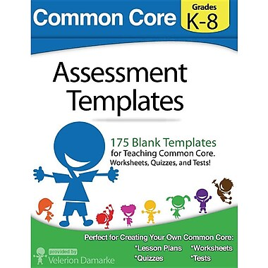 Common Core Assessment Templates: Full Color Print Version
