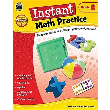 Instant Math Practice: Grade K