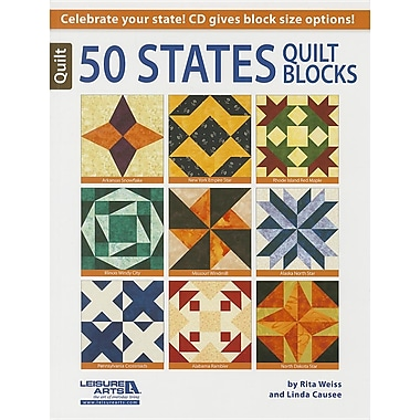 50 States Quilt Blocks [With CDROM]